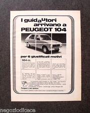 P720 - Advertising Pubblicità -1974- PEUGEOT 104