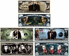 Supernatural Twilight Vampire Diaries Set of 3 Million Dollar Bill Novelty Notes