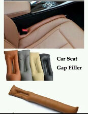 NEW 2X JDM Brown Leather Truck Car Seat Gap Filler Soft Pad Holster Block
