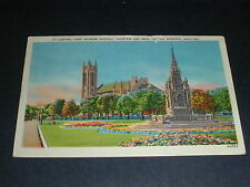 Central Park Showing Waddell Fountain and Knox Church, Winnipeg Manitoba 1949