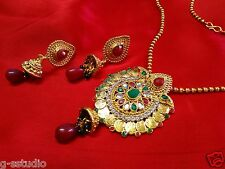 Wedding wear Lakshmi Coin ginni temple Necklace set-Peacock Bridal Jewellery