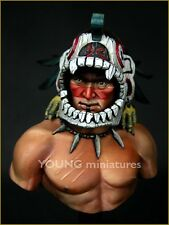 Young Miniatures Aztec Warrior YH1819 Unpainted 1/10th Scale Bust