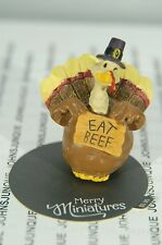 """TURKEY """"EAT BEEF"""" MERRY MINIATURES HALLMARK~NEW COLLECTION~SMALL~FREE SHIP IN US"""