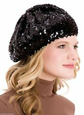 RJM International Beret Black Sequin Embellished Hat Bagged Ideal Gift NEW