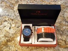 New Mens Charles Raymond Quartz Watch set  2 extra straps