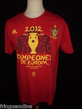 T.shirt collector Champion d'Europe ESPAGNE 2012 RIOJA ADIDAS Taille M