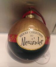 New Pretty Personalised Christmas Tree bauble - Alexander - Excellent Quality