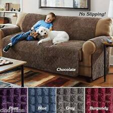 CHAIR RECLINER BURGUNDY ULTIMATE PUFF PLUSH FURNITURE PROTECTOR PETS SLIP COVER