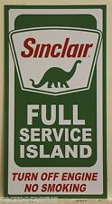 SINCLAIR metal sign Full Service Island Gasoline gas & oil service station 2050