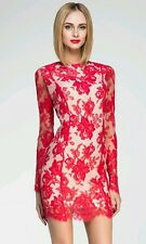 NWT $715 Zimmermann Red Lace Deep V Neck Sheath Dress SZ S US 4. SEE PICS.