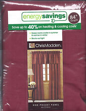 """84"""" """"RICH RED"""" CHRIS MADDEN PAIR OF MYSTIQUE FAUX SILK INTER-LINED PANEL"""
