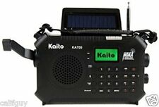 NOAA Alert AM/FM Radio W/ Bluetooth Solar Crank, LED Lite USB Port! New KA700