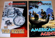 Commando Espionage WWII Comic Book lot : The War Watch & American Agent