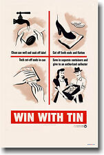 Win With Tin - WWII     POSTER