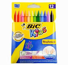 Plastidecor Colouring Crayons BiC Kids Pack of 12 Crayons Long Lasting Clean