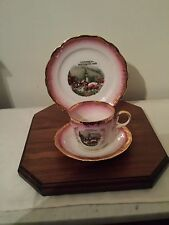 VINTAGE KUNST-PALETTE REGNITZLOSAU  K+ T BAVARIA HAVILAND 3 PIECE SET & DISPLAY