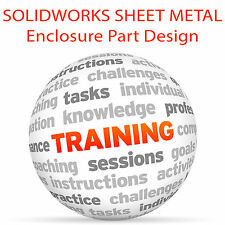 SolidWorks Sheet Metal Enclosure parte Design-formazione VIDEO TUTORIAL DVD