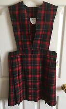 Parker Girls School Uniform Size 8.5 Red Green Plaid New With Tags