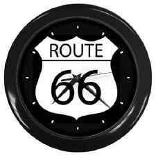 ROUTE 66 CLASSIC RETRO ROAD SIGN WALL CLOCK **SUPER ITEM**