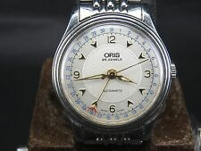 VINTAGE ORIS 2824-2 25JEWELS SWISS ETA DATE AUTOMATIC MENS WATCH