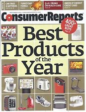 Consumer Reports Magazine November 2010 Tires Batteries CreditCard Best Products