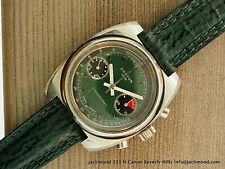 VINTAGE RARE CROTON CHRONOGRAPH STAINLESS STEEL WATCH COOL ORIGINAL DIAL C.70'S!