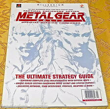 Metal Gear Solid Ultimate Strategy Guide Millennium Books AUTHORIZED HANDBOOK