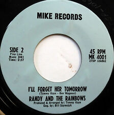 RANDY & The RAINBOWS 45 I'll Forget Her Tomorrow MIKE label DOO WOP e5547