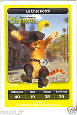 Carte Carrefour Dreamworks n° 29/216 - LE CHAT POTTE - Shrek