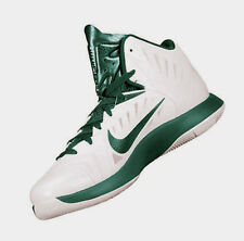 New Nike Men's Hyperquickness Basketball Shoe White Green 685778-130 Size 11