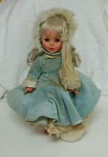 "Vintage FURGA Italy Doll w Original Clothes and Umbrella 14"" VTG"