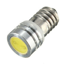 E10 COB 1W 1 SMD LED lamp Threaded 6V Xenon Lights Bike Highlight White Car