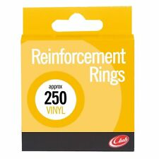 Pack of 250 Club Opaque Vinyl Reinforcement Rings. Reinforcers for Filing Holes