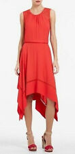 "$298 BCBG BT. POPPY ""KRISTEN"" SLEEVELESS ASYMMETRICAL CROCHET DRESS NWT L"