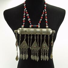 KUCHI Tribe BellyDance ATS Central Asia Tumar NECKLACE 810c7