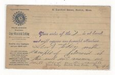 1893 UX10 Boston Massachusetts, Advertising, Boston Gear Works, Wheels & Cutting
