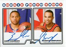 2008-09 Eric Gordon/Jerryd Bayless Topps PHOTO SHOOT DUAL AUTO RC (N20)