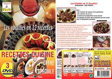 Lot 3 DVD Volailles Poissons Viandes en 3x12 recettes - Un chef à la maison