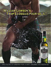 PUBLICITE  2002   WILLIAM LAWSON   wisky TOP ECOSSAIS