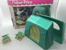 Fisher Price Mattel 1998 Doll House CAMPING TENT Set