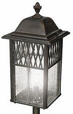 """20"""" Seeded Glass Dark Rust Low Voltage Landscape Light, New! Lantern Garden Path"""