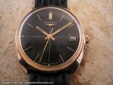 Longines Black Dial with Date in Rose Gold Case, Manual, Gents (614)