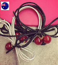 1PEICE Women Lady Girl Cherry fruit Hair Ponytail Holder Elastic bands Scrunchie