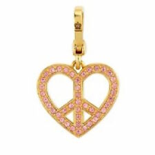 NEW Juicy Couture Charm Heart Pave' Peace Sign