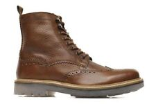 CLARKS MONMART LIMIT NEW WITH BOX COGNAC LEATHER BROGUE STYLE SIZE 44 UK 9,5G