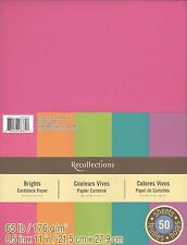 "New Recollections 8.5x11"" Cardstock Paper Bright Colors 50 Sheets"