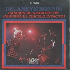 """DELANEY & BONNIE 7""""PS Spain 1971 Never ending song of love"""