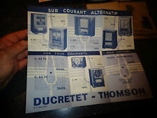 Ancien Dépliant des Anciennes Radio DUCRETET-THOMSON