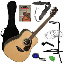 Yamaha FG830 Acoustic Guitar - Natural GUITAR ESSENTIALS BUNDLE