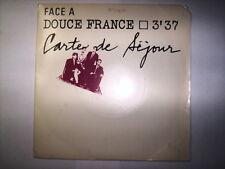 DISQUE 45T CARTE DE SEJOUR DOUCE FRANCE / RACHID TAHA